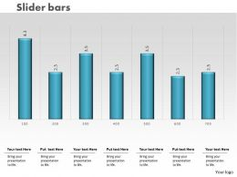 0414 Slider Column Chart With Bars Powerpoint Graph