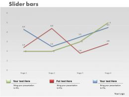 0414 Slider Line Chart Trend Series Powerpoint Graph
