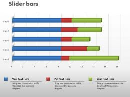 0414 Slider Time Series Bar Chart Powerpoint Graph