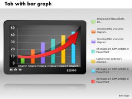 0414 Tablate With Bar Graph Column Chart Powerpoint Graph