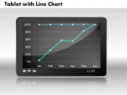 0414 Tablate With Line Chart Powerpoint Graph