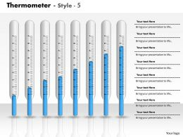 0414 Thermometer Business Graph Column Chart Powerpoint Graph