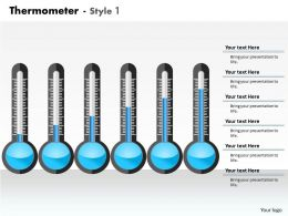 0414 Thermometer Column Chart Business Layout Powerpoint Graph