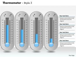 0414 Thermometer Column Chart For Business Growth Powerpoint Graph