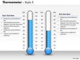 0414 Thermometer Column Chart Style Graphics Powerpoint Graph