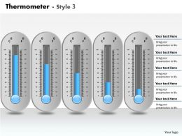0414 Thermometer Data Driven Column Chart Powerpoint Graph