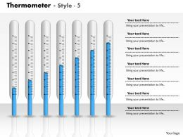 0414 Thermometer Graph Column Chart Powerpoint Graph