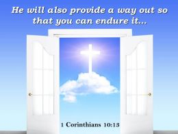 0514 1 Corinthians 1013 That You Can Endure It Power Powerpoint Church Sermon