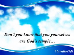 0514 1 Corinthians 316 Dont you know that PowerPoint Church Sermon