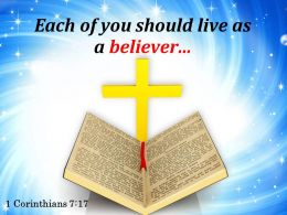 0514 1 Corinthians 717 Live As A Believer Powerpoint Church Sermon