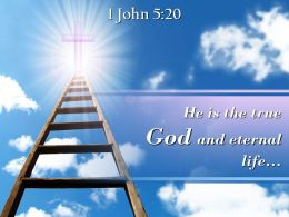 0514 1 John 520 He Is The True God Powerpoint Church Sermon