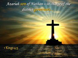 0514 1 Kings 45 Azariah Son Of Nathan Powerpoint Church Sermon