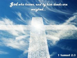 0514 1 Samuel 23 God Who Knows And By Powerpoint Church Sermon