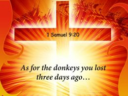 0514 1 Samuel 920 As For The Donkeys Powerpoint Church Sermon