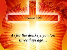0514 1 Samuel 920 As For The Donkeys Powerpoint Church Sermon