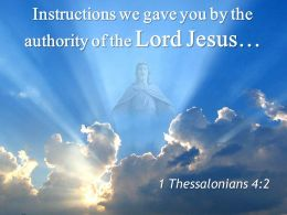0514 1 Thessalonians 42 Instructions we gave you by PowerPoint Church Sermon