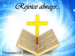 0514 1 Thessalonians 516 Rejoice Always Power PowerPoint Church Sermon
