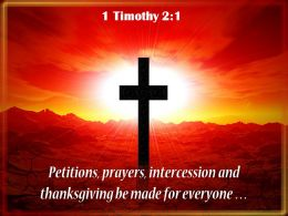 0514 1 Timothy 21 I Urge Then First PowerPoint Church Sermon