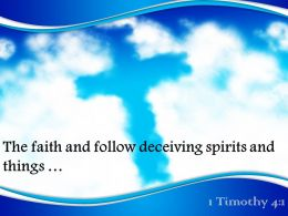 0514 1 Timothy 41 The Faith And Follow PowerPoint Church Sermon