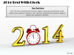 0514 2014 Text With Clock Image Graphics For Powerpoint