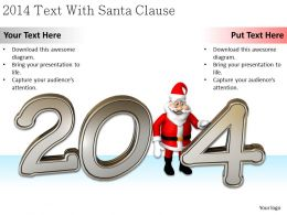 0514 2014 Text With Santa Clause Image Graphics For Powerpoint