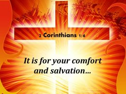 0514 2 Corinthians 16 It Is For Your Comfort Powerpoint Church Sermon