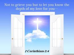 0514 2 Corinthians 24 Not To Grieve You But Power Powerpoint Church Sermon