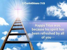 0514 2 Corinthians 713 Happy Titus Was Because Powerpoint Church Sermon