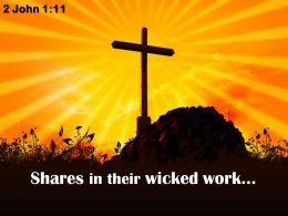 0514 2 John 111 For He Who Wishes Him Success Powerpoint Church Sermon