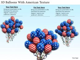 0514 3d Balloons With American Texture Image Graphics for PowerPoint