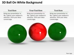 0514 3d Balls On White Background Image Graphics For Powerpoint