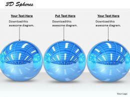 0514 3d Blue Color Decorative Balls Image Graphics For Powerpoint