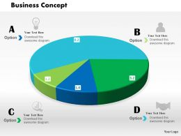 0514 3d Colored Data Driven Pie Chart For Business Powerpoint Slides