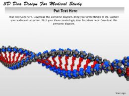0514 3d Dna Design For Medical Study Image Graphics For Powerpoint