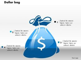 0514 3d Graphic Of Dollar Bag Powerpoint Slides