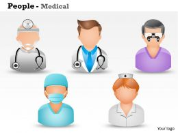 0514 3d Graphic Of Medical People Medical Images For Powerpoint