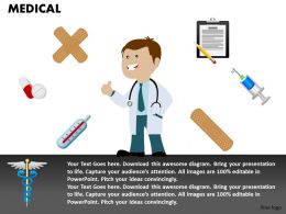 0514 3d Graphic Of Medical Symbols And Doctor Medical Images For Powerpoint