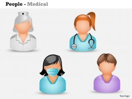 0514 3d Graphic Of Nurses And Medical Assistant Medical Images For Powerpoint