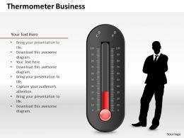 0514 3d Graphic Of Scientific Thermometer Powerpoint Slides