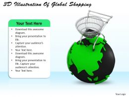 0514 3d Illustration Of Global Shopping Image Graphics for PowerPoint