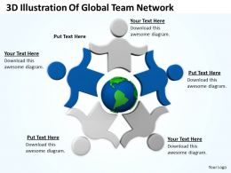 0514 3D Illustration Of Global Team Network Image Graphics For Powerpoint