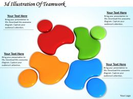 0514 3d Illustration Of Teamwork Image Graphics For Powerpoint