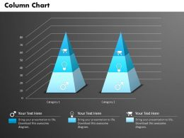 0514 3d Triangular Chart For Data Driven Result Display Powerpoint Slides