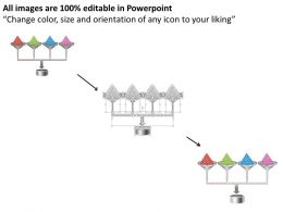 0514 4 Staged Funnel Process Powerpoint Presentation