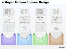 0514 4 Staged Modern Business Design Powerpoint Presentation