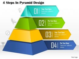 0514 4 Steps in Pyramid Design Powerpoint Presentation