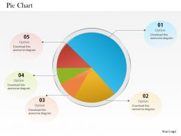 0514 5 Staged Data Driven Pie Chart Powerpoint Slides