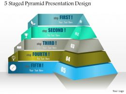0514 5 Staged Pyramid Presentation Design Powerpoint Presentation