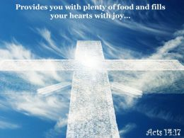 0514 Acts 1417 You With Plenty Of Food Powerpoint Church Sermon