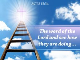 0514 Acts 1536 The Word Of The Lord And Powerpoint Church Sermon